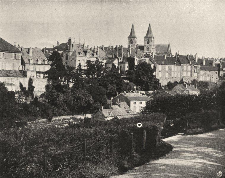 Associate Product HAUTE-MARNE. Chaumont- Vue générale 1906 old antique vintage print picture