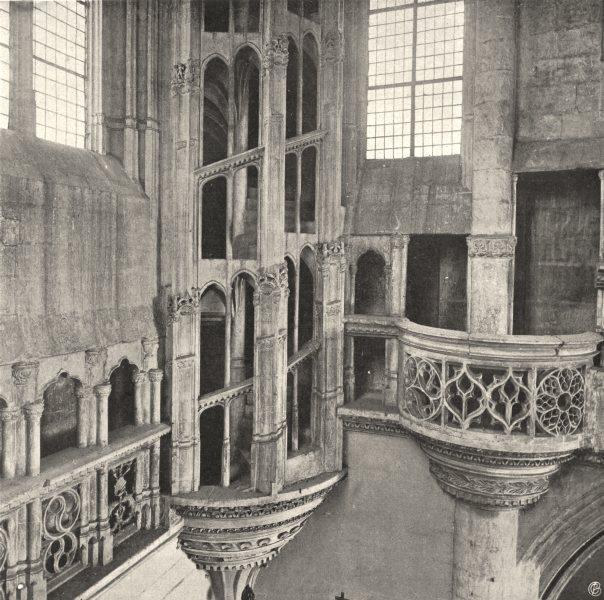 Associate Product HAUTE-MARNE. Chaumont- Église Saint-Jean, escalier 1906 old antique print