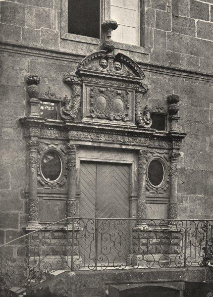 Associate Product HAUTE-MARNE. Langres- Porte d'un hôtel Particulier 1906 old antique print