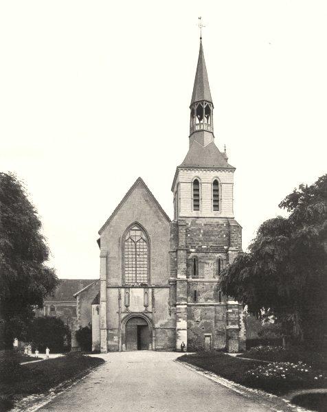 Associate Product HAUTE-MARNE. Montier-en-Der- Église 1906 old antique vintage print picture