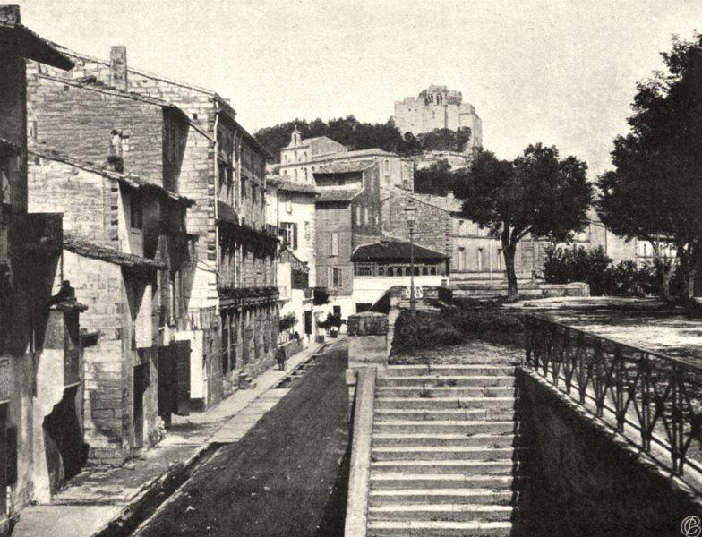 GARD. Vue générale de Beaucaire. SMALL. 1902 old antique vintage print picture
