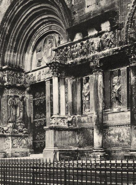 Associate Product GARD. Détail du portail de l'église de Saint-Gilles 1902 old antique print