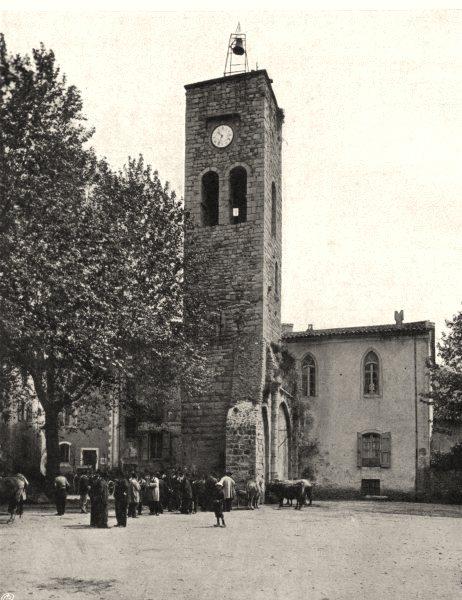 Associate Product GARD. Tour de I'Horloge, à Saint-jean-DU-Gard 1902 old antique print picture