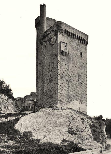 Associate Product GARD. Villeneuve- lès- Avignon- Tour de Philippe-le-Bel 1902 old antique print