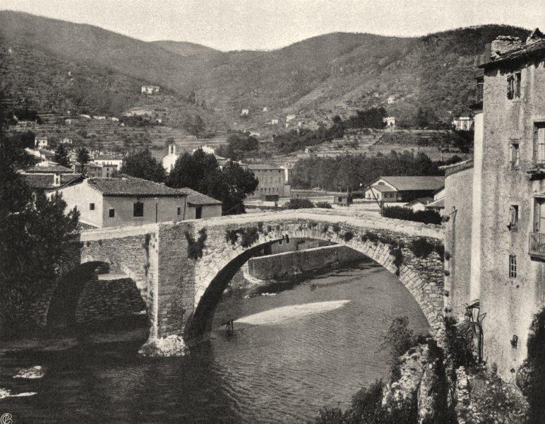 Associate Product GARD. Vieux pont, au Vigan 1902 old antique vintage print picture