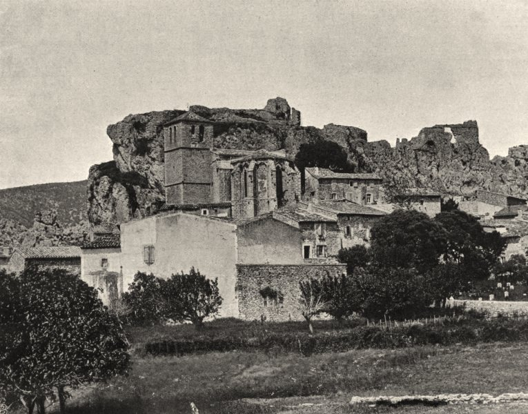 Associate Product HÉRAULT. Mourèze 1902 old antique vintage print picture