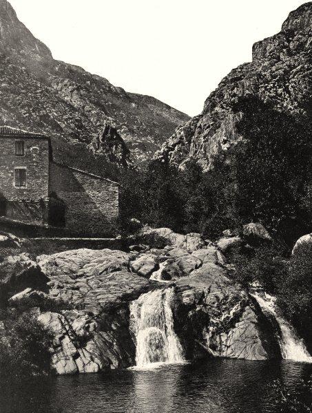 Associate Product HÉRAULT. Cascade de Colombières-sur-Orb 1902 old antique vintage print picture