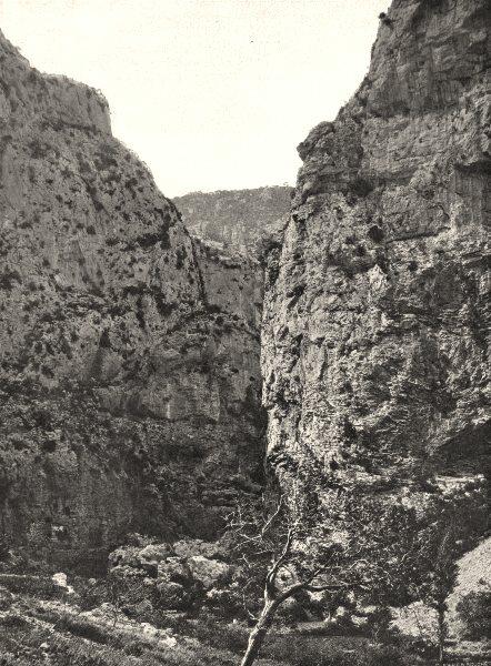 Associate Product HÉRAULT. Gorges d'Héric 1902 old antique vintage print picture