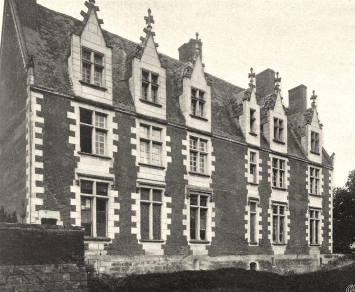 Associate Product INDRE-ET-LOIRE. Château de Plessis- lès- Tours. SMALL. 1903 old antique print