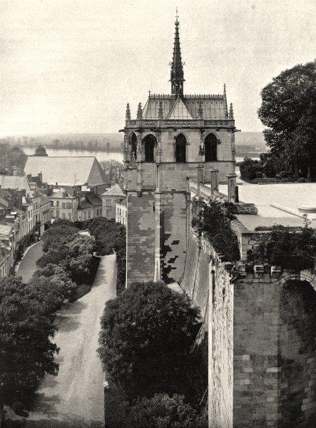 Associate Product INDRE-ET-LOIRE. Chapelle Saint-Hubert, à Amboise 1903 old antique print