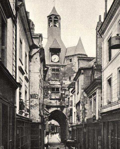 Associate Product INDRE-ET-LOIRE. Vieille porte, à Amboise. SMALL. 1903 old antique print