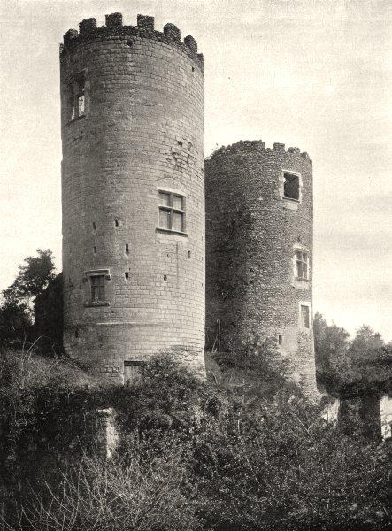 Associate Product INDRE-ET-LOIRE. Château de Cinq- Mars 1903 old antique vintage print picture