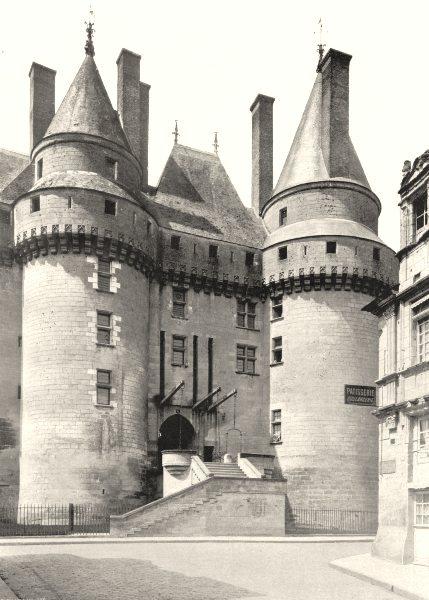 Associate Product INDRE-ET-LOIRE. Entrée du Château de Langeais 1903 old antique print picture