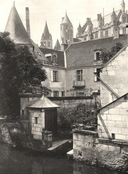 Associate Product INDRE-ET-LOIRE. L'Indre, à Loches 1903 old antique vintage print picture