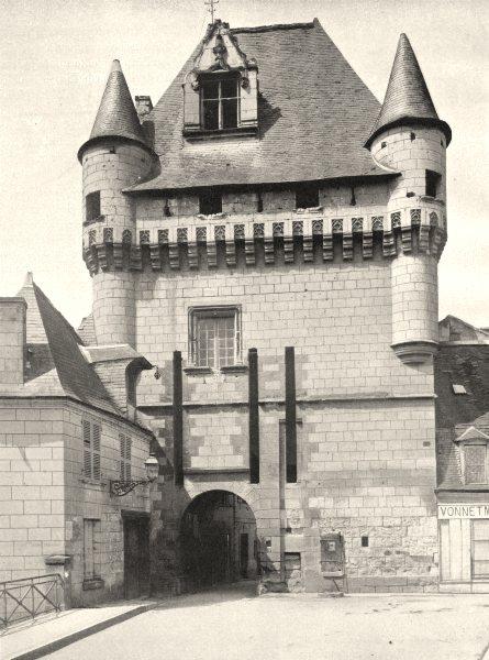 Associate Product INDRE-ET-LOIRE. La Porte des Cordeliers, à Loches 1903 old antique print