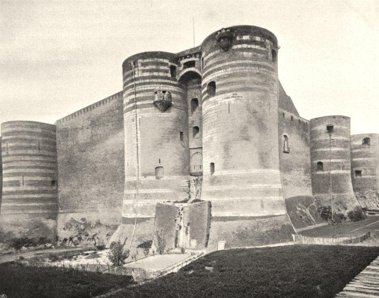 Associate Product MAINE-ET-LOIRE. Château d'Angers 1903 old antique vintage print picture