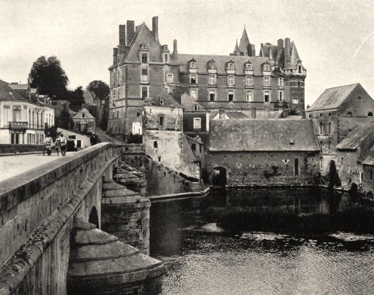 Associate Product MAINE-ET-LOIRE. Vue générale de Durtal 1903 old antique vintage print picture