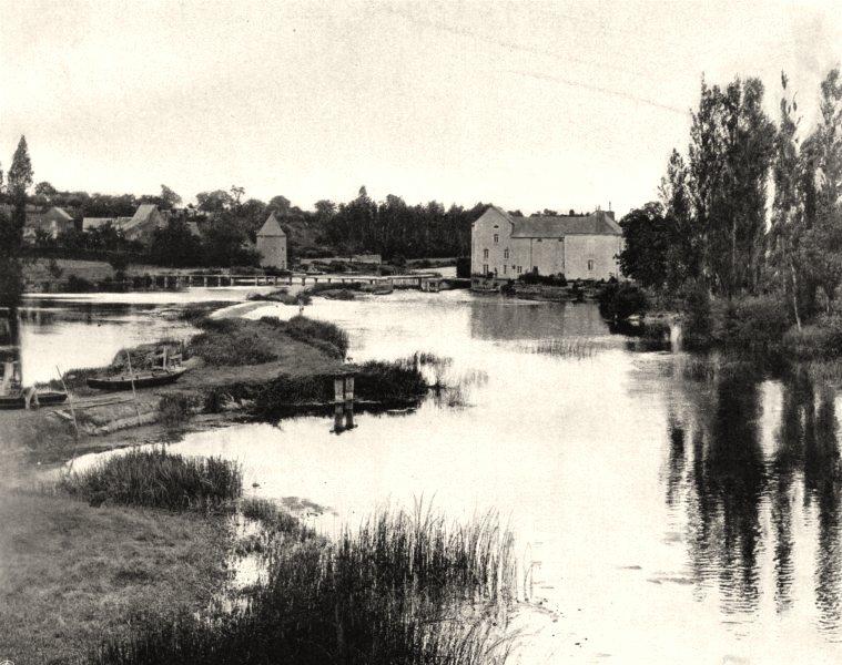Associate Product MAINE-ET-LOIRE. Le Loir, à Durtal 1903 old antique vintage print picture