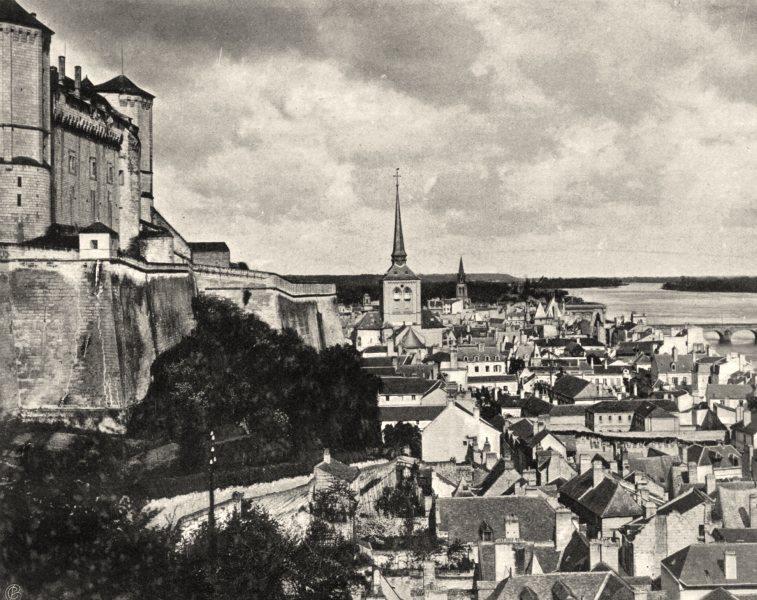 MAINE-ET-LOIRE. Vue générale de Saumur 1903 old antique vintage print picture