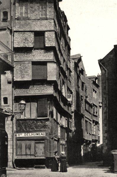 Associate Product LOIRE-ATLANTIQUE. Rue de la Juiverie, à Nantes. SMALL. 1903 old print