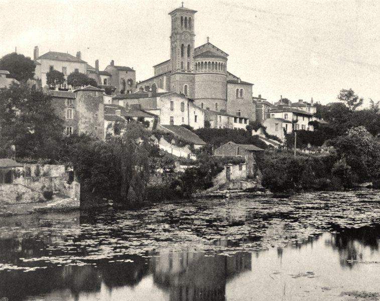 Associate Product DEUX-SÈVRES. La Sèvre, à Clisson 1903 old antique vintage print picture