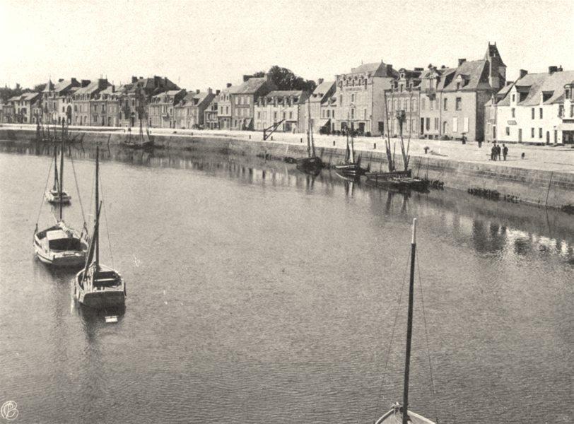 LOIRE-ATLANTIQUE. Le Port, au Pouliguen. SMALL. 1903 old print picture