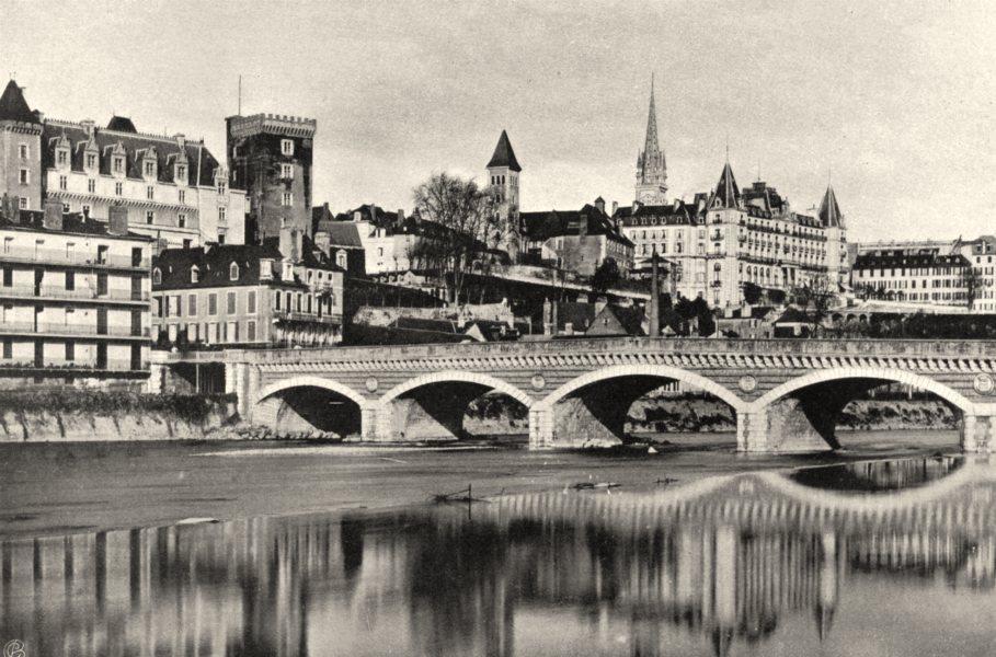 Associate Product PYRÉNÉES-ATLANTIQUES. Pau- Vue générale 1903 old vintage print picture
