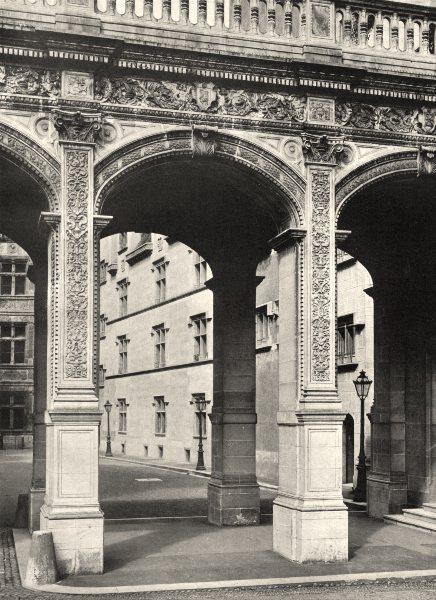 Associate Product PYRÉNÉES-ATLANTIQUES. Pau- Château. entrée 1903 old print picture