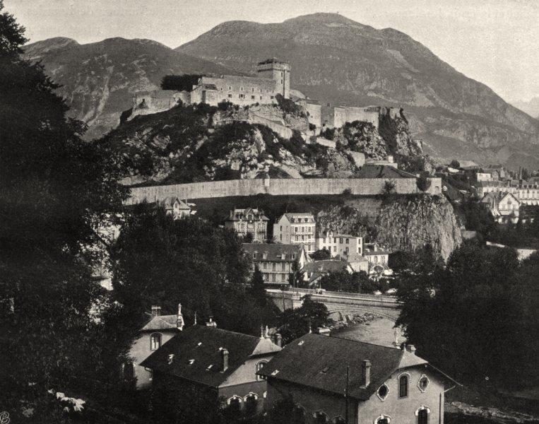 Associate Product HAUTES-PYRÉNÉES. Lourdes- Le château 1903 old antique vintage print picture
