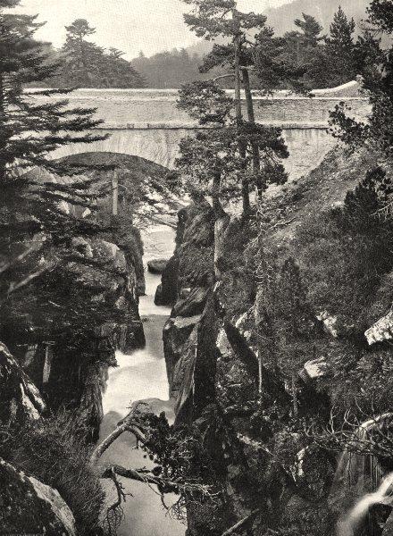 Associate Product HAUTES-PYRÉNÉES. Cauterets- Le Pont d'Espagne 1903 old antique print picture
