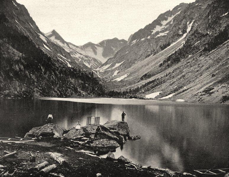 Associate Product HAUTES-PYRÉNÉES. Le lac de Gaube 1903 old antique vintage print picture