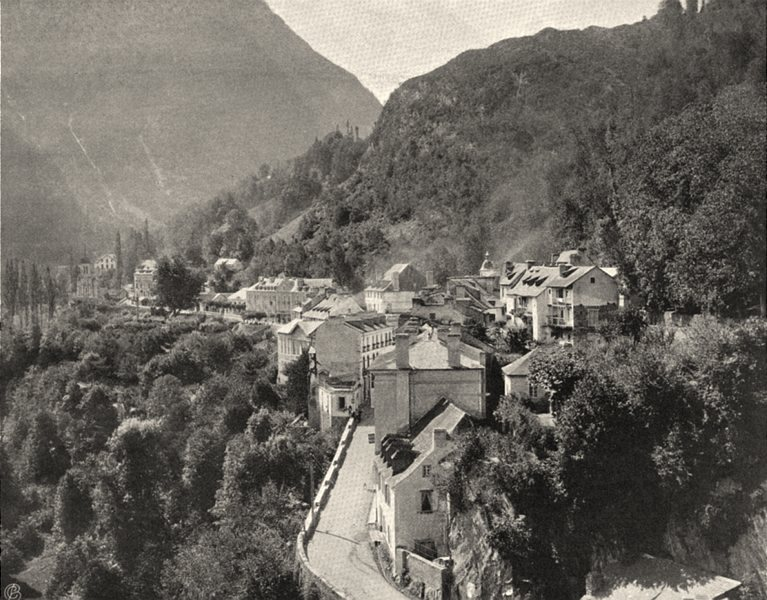 Associate Product HAUTES-PYRÉNÉES. Saint-Sauveur- Vue générale 1903 old antique print picture