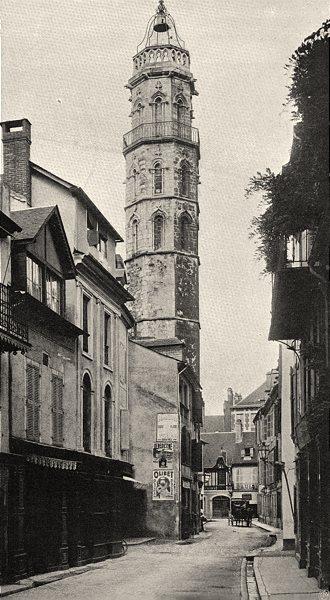 Associate Product HAUTES-PYRÉNÉES. Bagnères- Tour de I'Horloge 1903 old antique print picture
