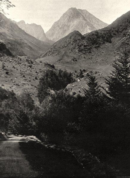 Associate Product HAUTES-PYRÉNÉES. La route du Tourmalet et le Pic Du Midi 1903 old print