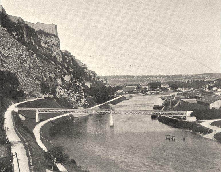 Associate Product DOUBS. Besançon- Vue générale 1905 old antique vintage print picture