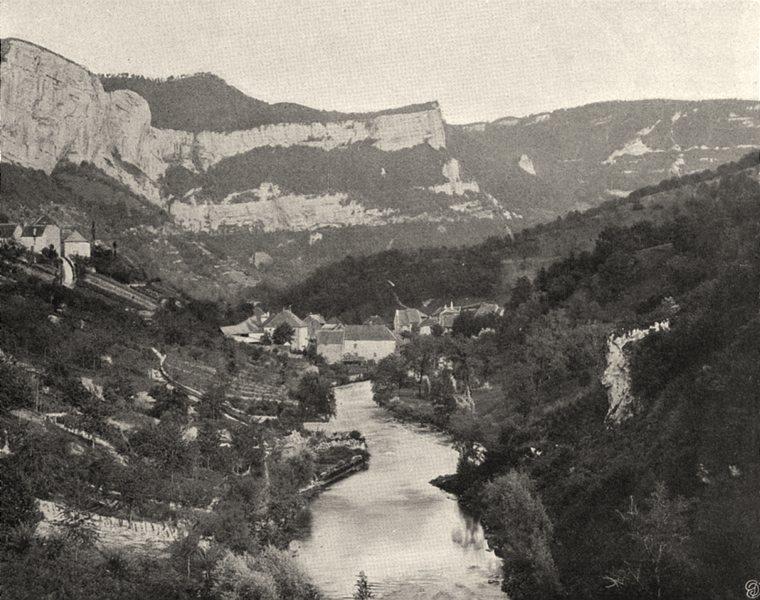 Associate Product DOUBS. Mouthier, vue prise de la route de Lods 1905 old antique print picture