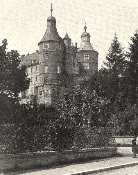 Associate Product DOUBS. Montbéliard- Château 1905 old antique vintage print picture