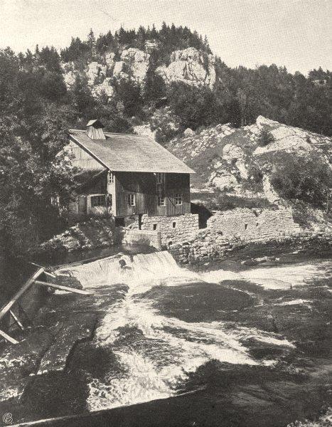 Associate Product DOUBS. Les rapides du Doubs avant le Saut 1905 old antique print picture