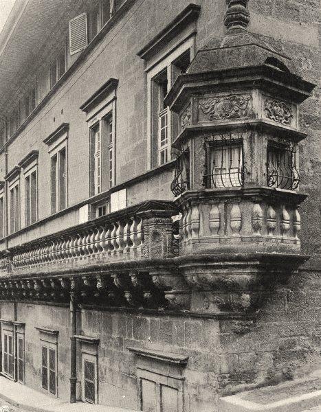 Associate Product JURA. Dôle- L'hôpital 1905 old antique vintage print picture