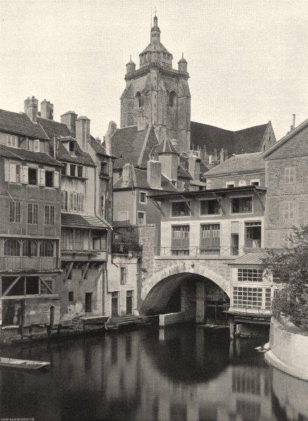 Associate Product JURA. Dôle- Canal des Tanneurs 1905 old antique vintage print picture