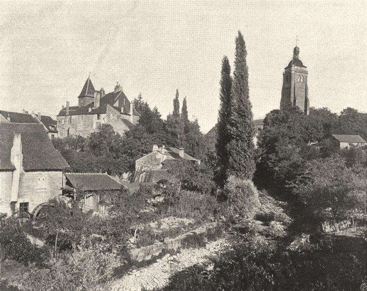 Associate Product JURA. Arbois- Vue générale 1905 old antique vintage print picture
