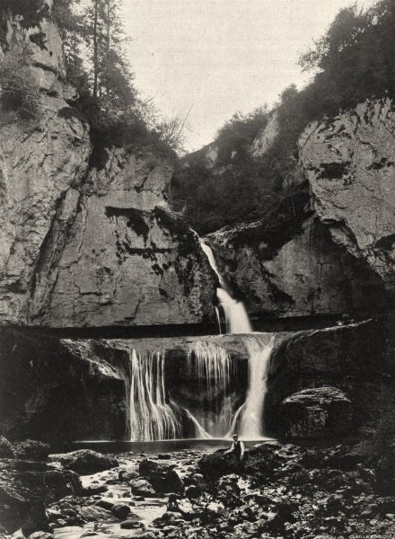Associate Product JURA. Cascade de la Billaude 1905 old antique vintage print picture