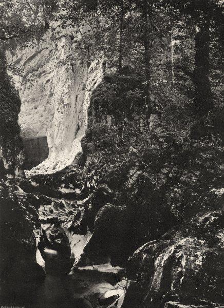 Associate Product JURA. Cascade des Planches-en-Montagne- La Langouette 1905 old antique print