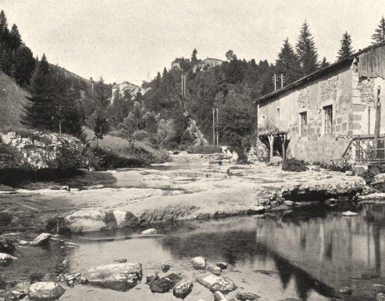 Associate Product JURA. Nozeroy- Moulin du Saut 1905 old antique vintage print picture