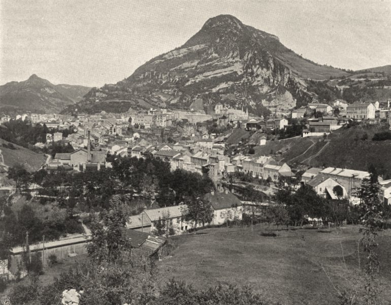 Associate Product JURA. Saint-Claude (2)  1905 old antique vintage print picture