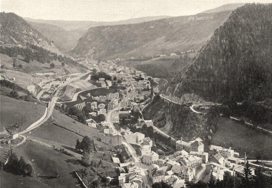 JURA. Morez (1)  1905 old antique vintage print picture