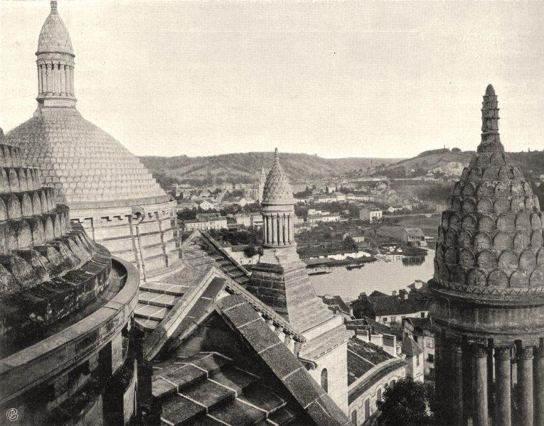 DORDOGNE. Périgueux- Les dômes de la cathédrale 1904 old antique print picture