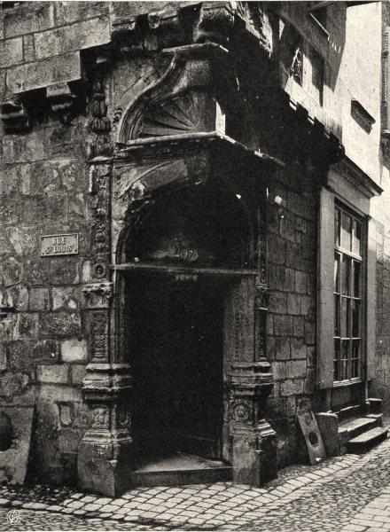 Associate Product DORDOGNE. Périgueux- Vieille maison. SMALL. 1904 old antique print picture