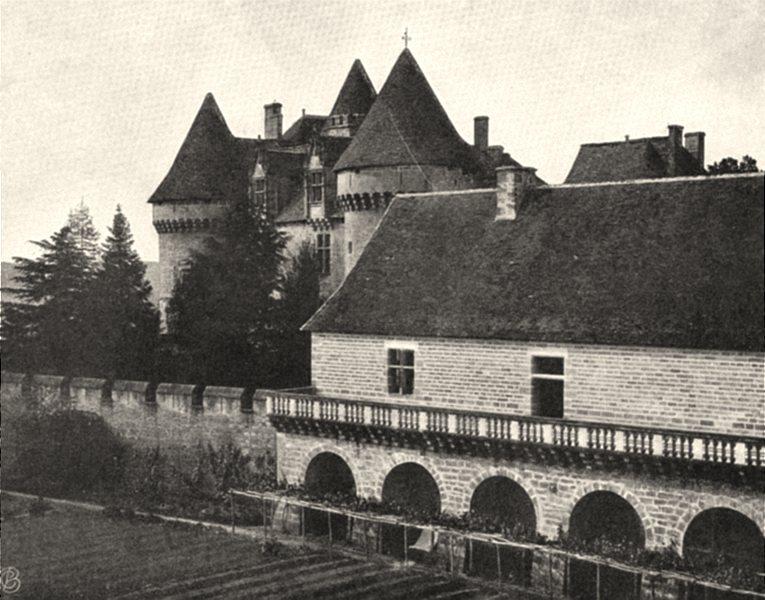 Associate Product DORDOGNE. Sainte-Mondane- Château de Fénelon. SMALL. 1904 old antique print