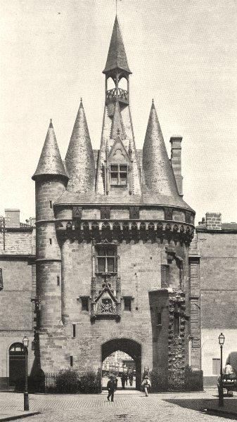 Associate Product GIRONDE. Bordeaux- Porte du Palais 1904 old antique vintage print picture